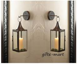 wall sconce 2 hanging candle holder