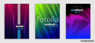 abstract lines vector minimal modern brochures design set cover templates geometric halftone grant