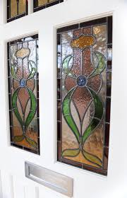 stained glass timber front door