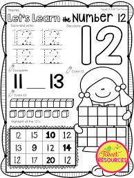 Teen Numbers | Number 12, Pre kindergarten and Math numbers