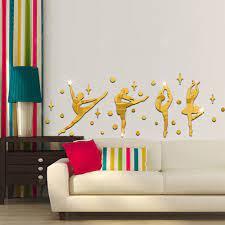 3D Decoration Wall Sticker Gold Wall ...
