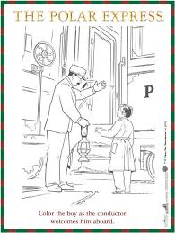 Small Picture Free reproducible The Polar Express coloring sheet