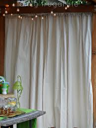 drop cloths as outdoor curtains