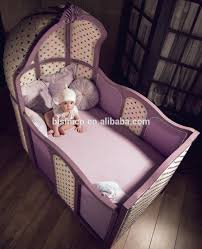 Royal Crown Cinderella Pumpkin Coach Bed, Luxury Princess Carriage Children  Bed (BF01-70299