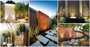 outdoor wall design outside house metal decor privacy garden ideas