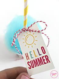 Summer Gift Tags Free Print Cut Hello Summer Gift Tag Tauni Everett