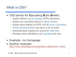 cascade style sheet cascading style sheet css instructor dr fang daisy tang ppt