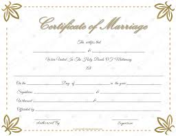 Wedding Certificate Template Cool Marriage Certificate Template Write Your Own Certificate