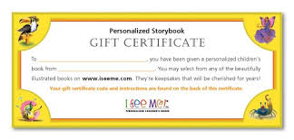 Personalized Children S Books Gift Certificate I See Me