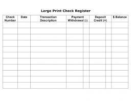 Checkbook Registers To Print Print Check Register Tagesspartipp Com