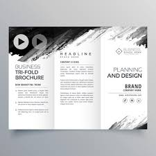 Presentation Trifold Abstract Black Ink Trifold Presentation Template For Your Brand