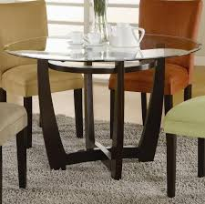 furniture inspiring round glass top dining table and chairs with grey rug glass top