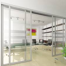 sliding office door. Sliding Office Doors And Panels Features Aluminum Frame AF009 Clear  Glass With Custom Etched Pattern Sliding Door L