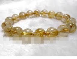 2019 00667 Brazil <b>Natural Titanium Gold</b> Rutile Quartz 10.5 <b>11mm</b> ...
