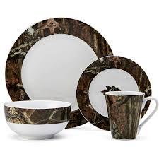 Camouflage Dishes Break Up Infinity 16 Piece Dinnerware Se Walmartcom