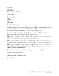 Letter Of Complaints Sample Letter Of Complaint Template Rome Fontanacountryinn Com
