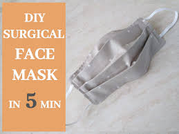 diy surgical face mask in 5 minutes
