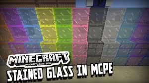 how to have stained glass in minecraft