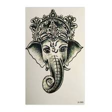 Us 048 16 Offgirl Women Waterproof Transfer Flash Temporary Tattoo Ganesha Water Elephant Fake Tattoo Sticker 1pcs In Temporary Tattoos From