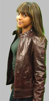 juniors brown leather jacket