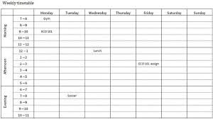 Weekly Timetable Planner Printable Revision Timetable Study Planner And Timetable