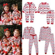 Christmas Family Women Baby Kids Deer Sleepwear Nightwear Pajamas ...