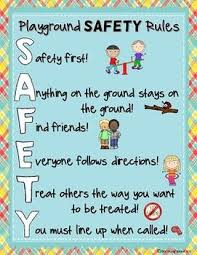 Playground And Recess Safety Rules Posters Playground