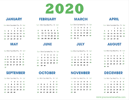 Word 2020 Calendars 2020 Calendars In Pdf Download Templates Of Calendar 2020