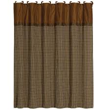 brown houndstooth shower curtain