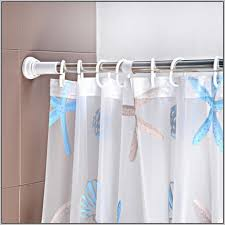 window treatment with tension rod curtain homesfeed pertaining to stylish household tension shower curtain rods target remodel