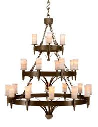 3 tier iron chandelier western pion