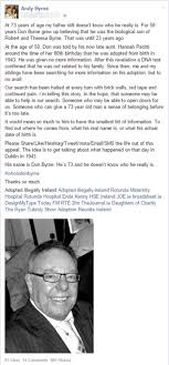 Adopted Irish granddad Don Byrne\u0027s quest to find birth family goes ...