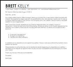 Fashion Marketing Cover Letter Fashion Merchandiser Cover Letter