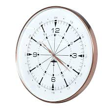 copper wall clock for large round