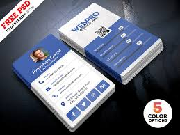 Vertical Business Card Template Psd Bundle Psdfreebies Com