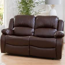 oakham two seater bonded leather sofa brown