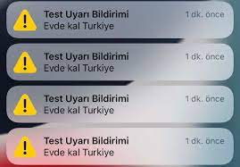 """Iphone kullanıcılarına sabah saatlerinde acil durum uyarısı! """"Evde kal  Türkiye"""""""