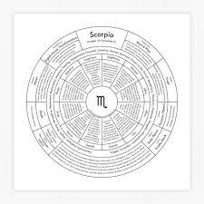 Amazon Com Scorpio Chart Letterpress Print Handmade