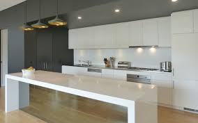 Smoked Mirror Panel To Island Bench Stone Splashback Dream
