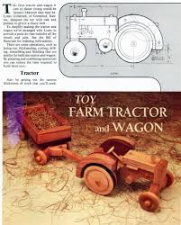 wooden toy tractor plans