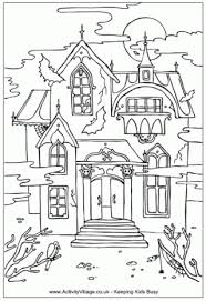 Small Picture Haunted House Colouring Pages