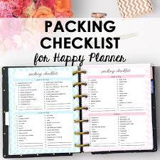 Happy Planner Vacation Planning Printable Checklist Happy Etsy