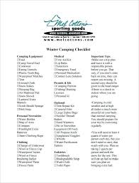 Camping List Template
