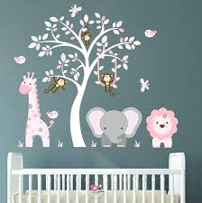 full size of wall arts nursery wall art stickers jungle decal blush pink and grey