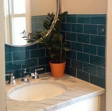 dark teal bathroom tilestraditional bathroom columbus