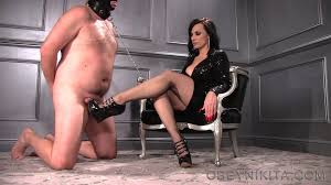 Female Domination World Popular femdom collection. Mistress Nikita FemDom Videos Worship My Shiny Wedges.mp4.0034