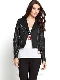 sel biker jacket womens jackets winter coats womens coats colour black
