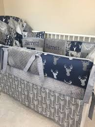 baby per bedding crib set navy gray