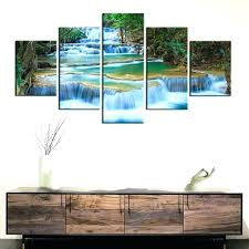 paintings for office walls. Prints Office Paintings For Walls Peaceful Waterfall Canvas 5 Pieces Painting Wall Decor Poster Beautiful Landscape C