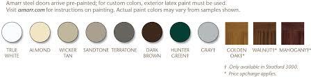 amarr garage door colors. Color Palette For The Amarr Stratford Collection Garage Door Colors O